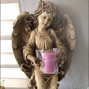 Home interiors angel candle holder